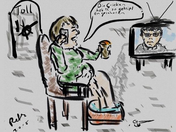 Merkel lust Grieks